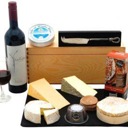 Red Wine & British Cheese Board Hamper