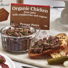 Organic Chicken Liver Pate with Brandy and Cranberries (110g)